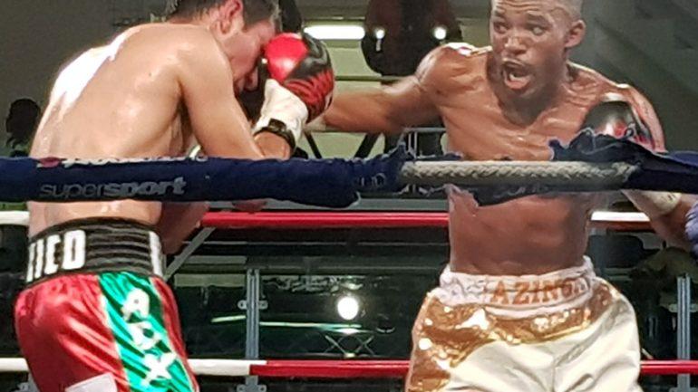 Azinga Fuzile dazzles against Romulo Koasicha, looks toward title shot.