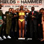 LR SHO WEIGH IN CLARESSA SHIELDS TRAPPFOTOS 04122019 7796 150x150 - Claressa Shields-Christina Hammer weigh-in results and photo gallery