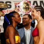 LR SHO WEIGH IN SHIELDS VS HAMMER TRAPPFOTOS 04122019 2820 150x150 - Claressa Shields-Christina Hammer weigh-in results and photo gallery
