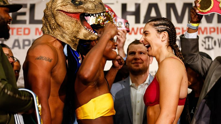 Claressa Shields-Christina Hammer weigh-in results and photo gallery