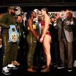 LR SHO WEIGH IN SHIELDS VS HAMMER TRAPPFOTOS 04122019 7816 150x150 - Claressa Shields-Christina Hammer weigh-in results and photo gallery