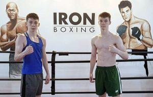 Stephen and Aaron McKenna at IRON Gym 300x190 - Irish amateur star Stephen McKenna follows brother Aaron into professional boxing