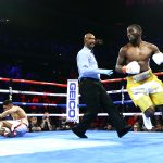 Terence Crawford vs Amir Khan knockdown view3 150x150 - Terence Crawford punishes Amir Khan, but fight ends on disappointing low blow TKO