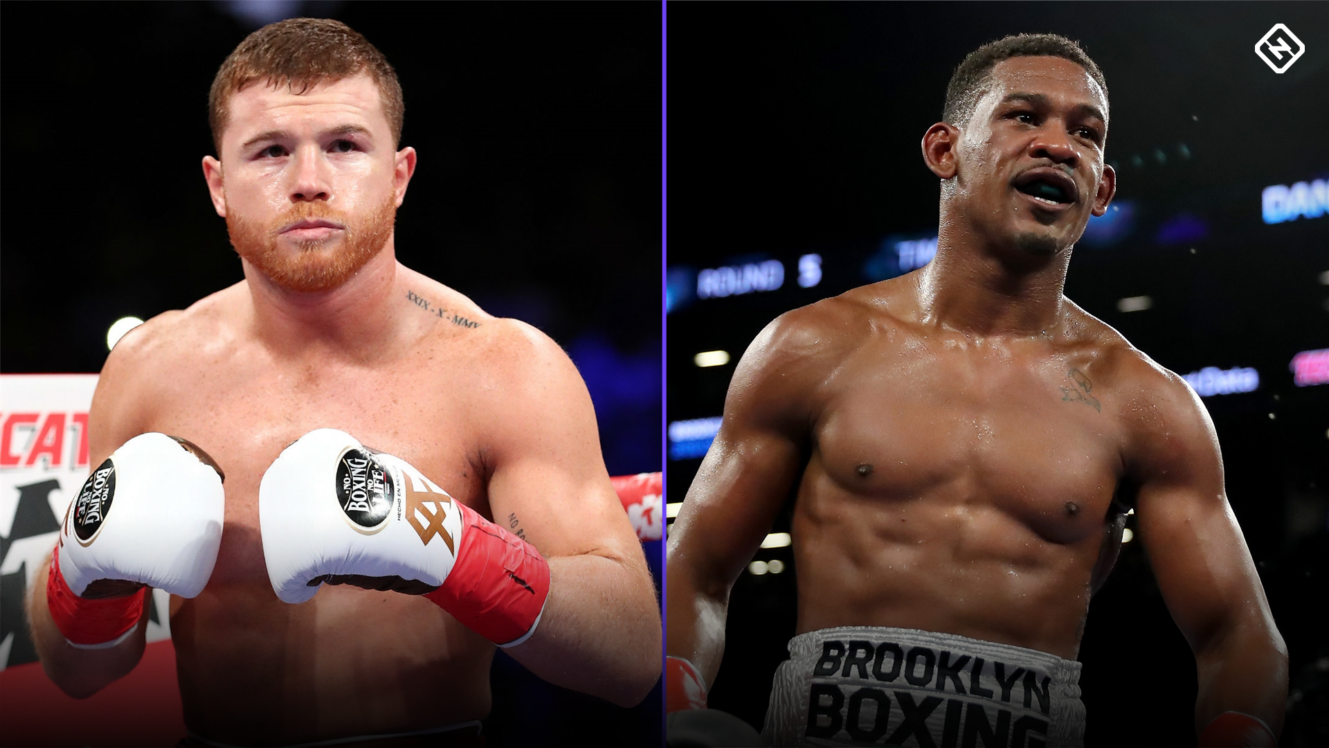 Canelo Alvarez (left) and Daniel Jacobs.