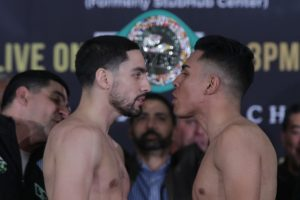 granados garcia faceoff 300x200 - After numerous close calls, Adrian Granados out to win a big one against Danny Garcia