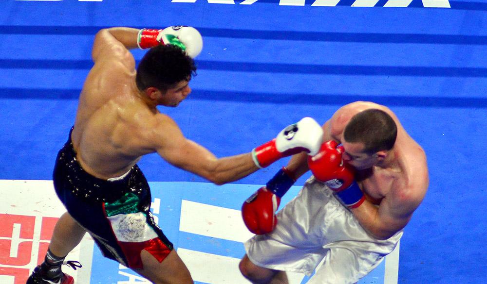 WBO super middleweight titlist Gilberto Ramirez (left) vs. Tommy Karpency