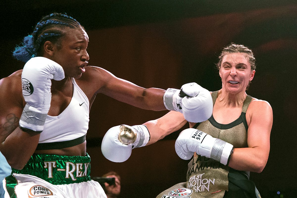 Claressa Shields believes her more dominant win to become undisputed champion shows she's the best female boxer ever. Photo by Mitchell Leff/Getty Images