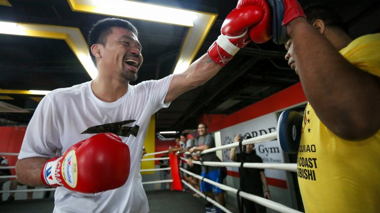 Photos: Manny Pacquiao begins training camp in Manila for Thurman fight