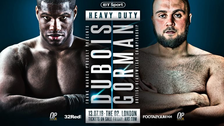 New dad Nathan Gorman is looking to complete the job against Daniel Dubois Saturday night
