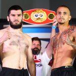 Artur Beterbiev vs Radivoje Kalajdzic pose 150x150 - Photos: Beterbiev-Kalajdzic, Ancajas-Funai make weight in Stockton