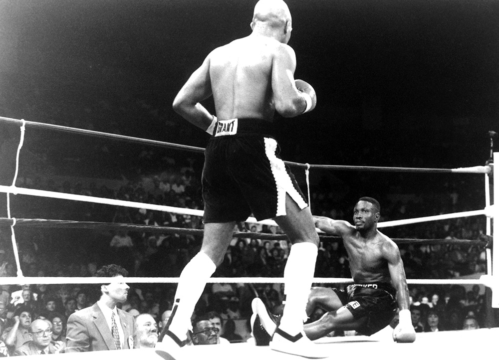 Buddy McGirt drops Pernell Whitaker in their rematch Ring Getty photo archive - Best I Faced: Buddy McGirt