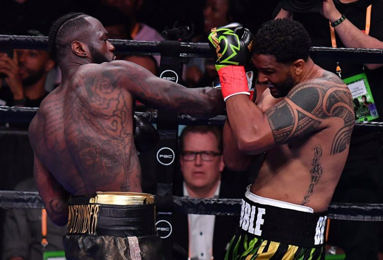 Deontay Wilder Finishes Dominic Breazeale With One Right Hand In