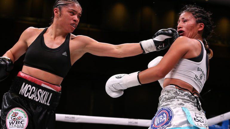 Jessica McCaskill outpoints Anahi Sanchez in thriller to unify women's junior welter belts