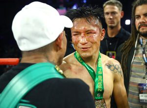 Francisco Vargas battered face after Berchelt rematch Williams 300x220 - Miguel Berchelt and Emanuel Navarrete halt Francisco Vargas and Isaac Dogboe in title bout rematches