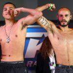 Gabriel Flores vs Eduardo Pereira pose 150x150 - Photos: Beterbiev-Kalajdzic, Ancajas-Funai make weight in Stockton