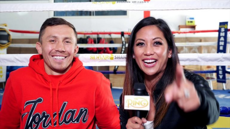 Watch: Gennady Golovkin discusses training for Steve Rolls with new coach Jonathon Banks in Big Bear