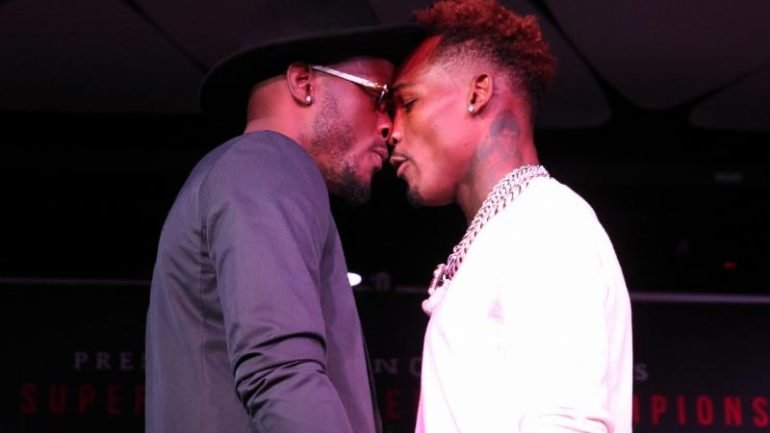 Watch: Tony Harrison and Jermell Charlo trade barbs during heated presser for June 23 rematch