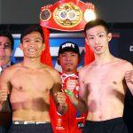 Jerwin Ancajas vs Ryuichi Funai pose 150x150 - Photos: Beterbiev-Kalajdzic, Ancajas-Funai make weight in Stockton