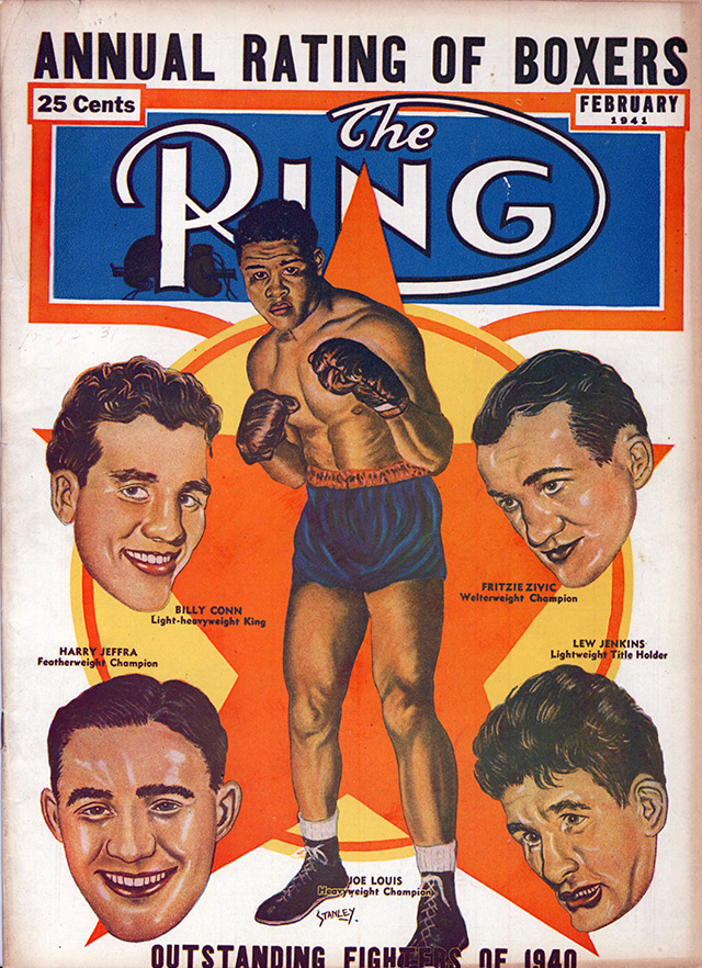 Joe Louis Billy Conn Fritzie Zivic Ring cover February 1941 - The Ring Archives: Born on this day: Joe Louis – part two