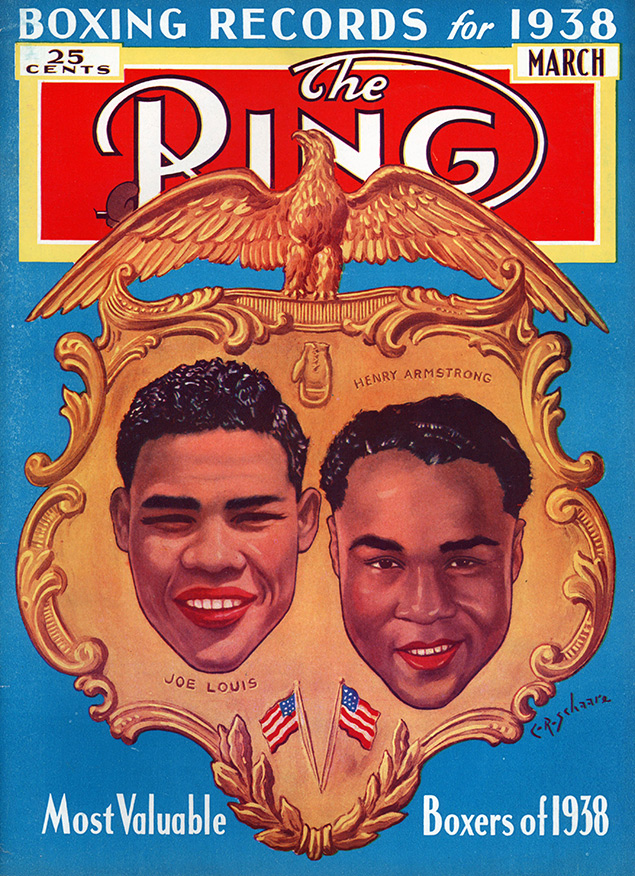 Joe Louis Henry Armstrong Ring cover March 1938 - The Ring Archives: Born on this day: Joe Louis – part one
