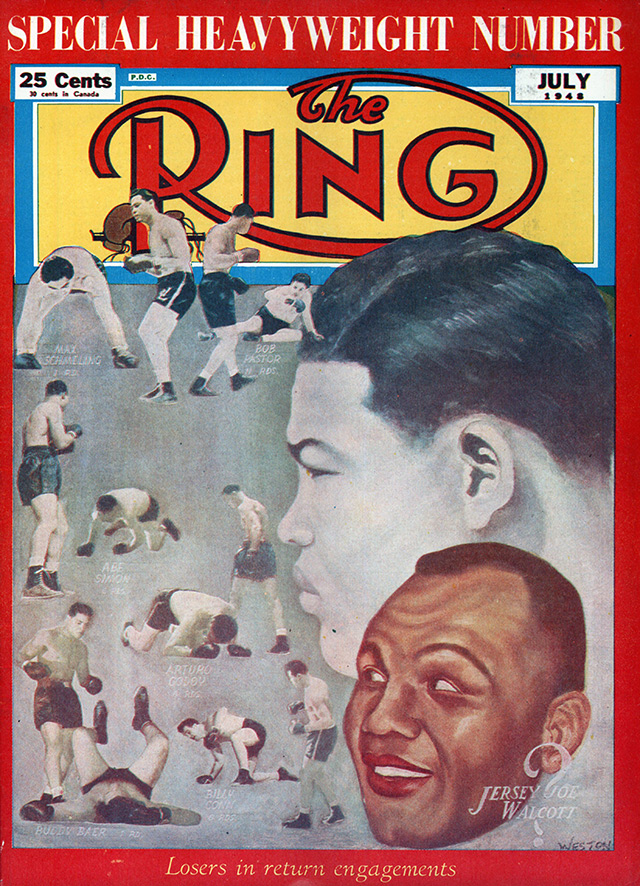 Joe Louis and Jersey Joe Walcott before rematch Ring cover - The Ring Archives: Born on this day: Joe Louis – part two