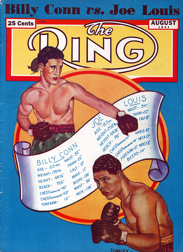 Joe Louis vs. Billy Conn I Ring cover Aug1941 - The Ring Archives: Born on this day: Joe Louis – part two