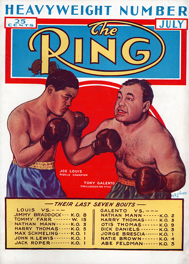 Joe Louis vs. Tony Galento Ring cover - The Ring Archives: Born on this day: Joe Louis – part two