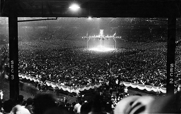 Louis Schmeling rematch at Yankee Stadium Ring - The Ring Archives: Born on this day: Joe Louis – part one