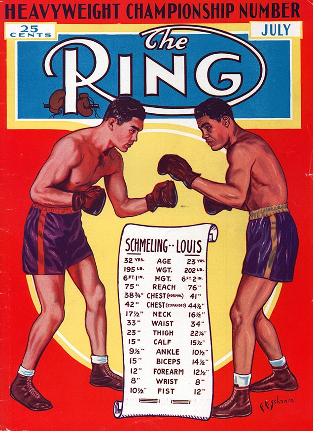 Louis vs. Schmeling rematch Ring cover July - The Ring Archives: Born on this day: Joe Louis – part one