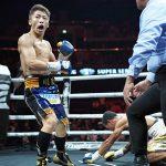 Naoya Inoue celebration post Rodriguez KO Fukuda 150x150 - Dougie's Monday mailbag (Inoue-Rodriguez, Wilder-Breazeale, Inoue P4P, Wilder vs. Joshua)
