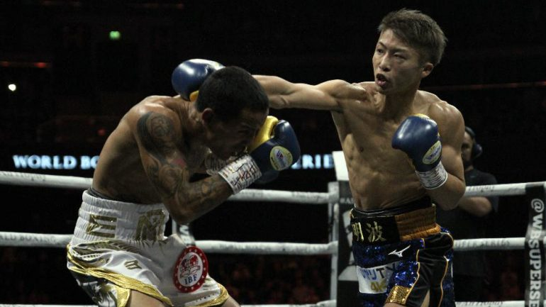 Naoya Inoue stops Emmanuel Rodriguez in two explosive rounds, wins Ring and IBF bantamweight titles