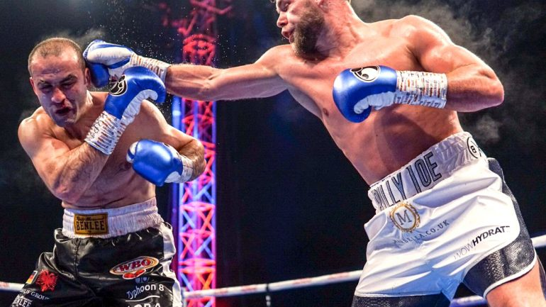 Billy Joe Saunders easily outpoints Shefat Isufi to gain WBO title; Joyce KOs Ustinov