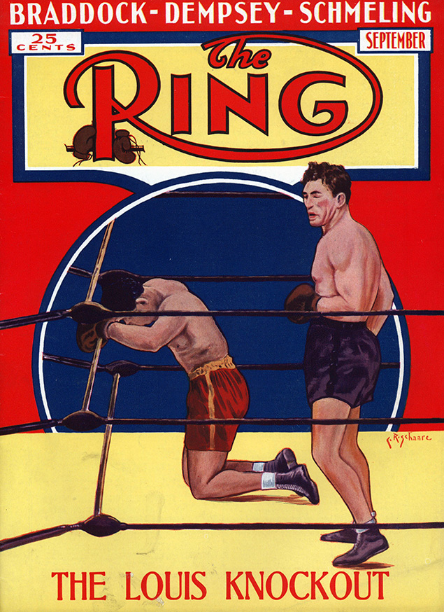 Schmeling stops Louis Ring cover - The Ring Archives: Born on this day: Joe Louis – part one