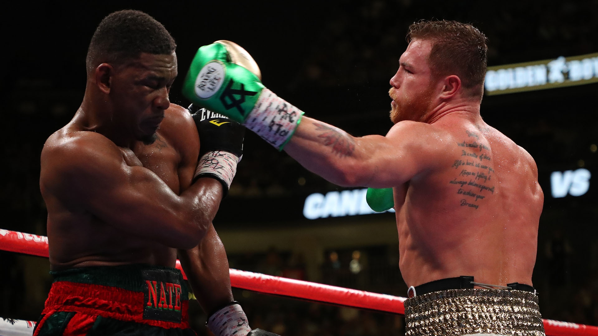 daniel jacobs left and canelo alvarez 7pgvwxqi3swp1lu90slytd2yd 1 - Canelo Alvarez reaches agreement to part ways with Golden Boy Promotions, DAZN