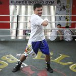 pacquiaostretch 150x150 - Photos: Manny Pacquiao begins training camp in Manila for Thurman fight