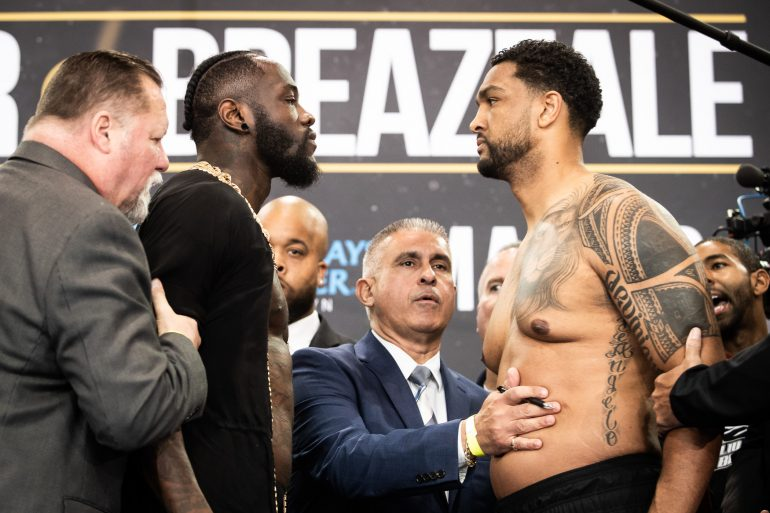 Photos Deontay Wilder Dominic Breazeale On The Scales In Brooklyn