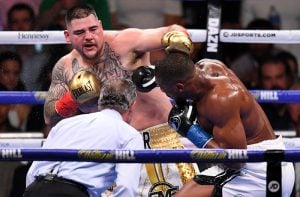 Andy Ruiz lands left vs. Anthony Joshua Matthew Heasley 300x197 - Dougie's Monday mailbag (Anthony Joshua-Andy Ruiz upset fallout and feedback)