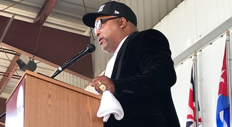 Trainer and former two-division titleholder Buddy McGirt. Photo courtesy of the International Boxing Hall of Fame