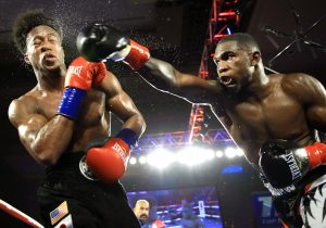 Carlos Adames vs Patrick Day action11 300x210 - Richard Commey drops Ray Beltran four times, scores eighth round TKO