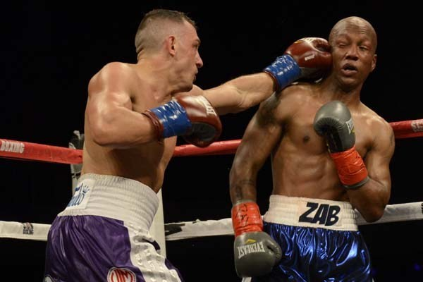Cletus Seldin vs. Zab Judah Photo credit Boxing Bob Newman - The Travelin' Man goes to Induction Weekend 2019: Part Two