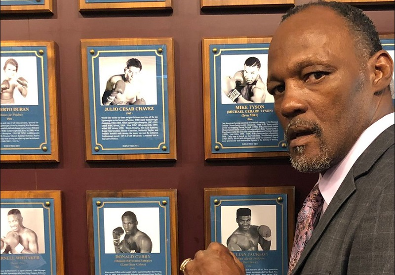 Donald Curry Photo courtesy of the IBHOF - The Travelin' Man goes to Induction Weekend 2019: Part Three