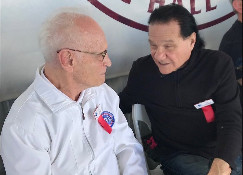 Guy Jutras and Don Elbaum Photo courtesy of the IBHOF - The Travelin' Man goes to Induction Weekend 2019: Part Three