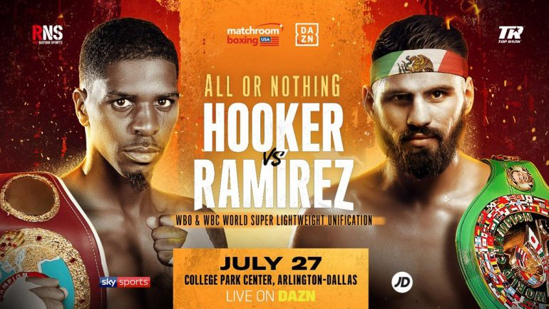 Maurice Hooker and Jose Ramirez to clash in 140-pound title unification on July 27