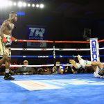 Richard Commey vs Ray Beltran final knockdown 150x150 - Richard Commey drops Ray Beltran four times, scores eighth round TKO