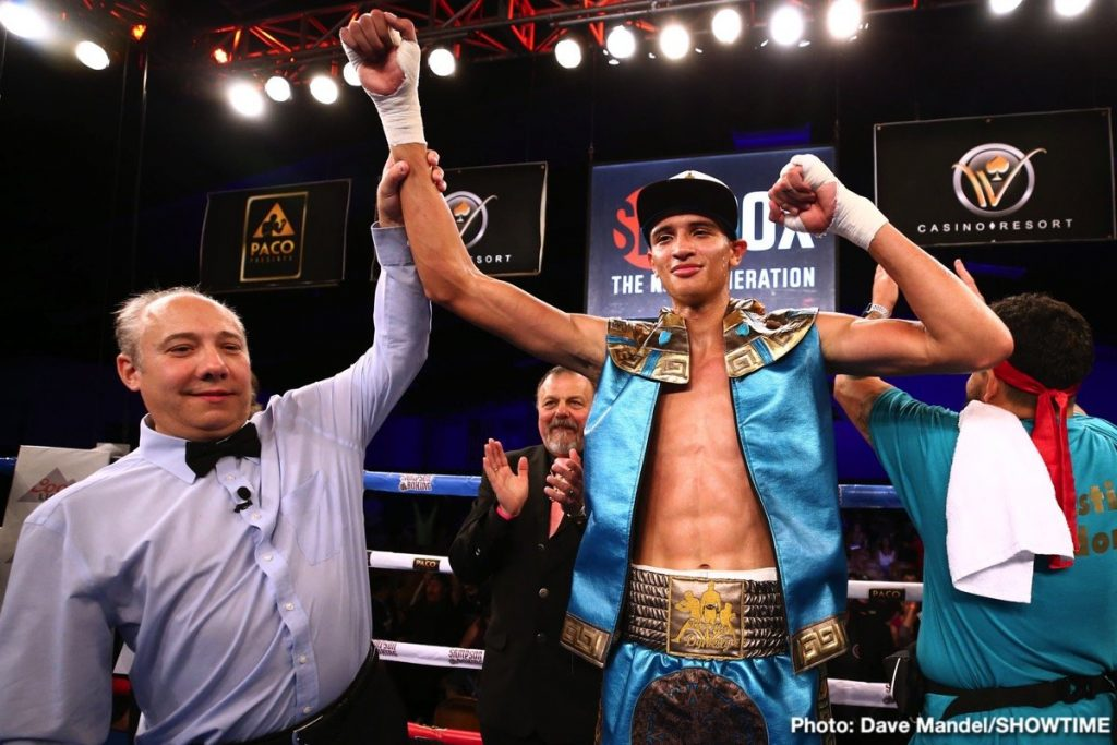 Junior middleweight Sebastian Fundora. Photo credit: Dave Mandel/Showtime