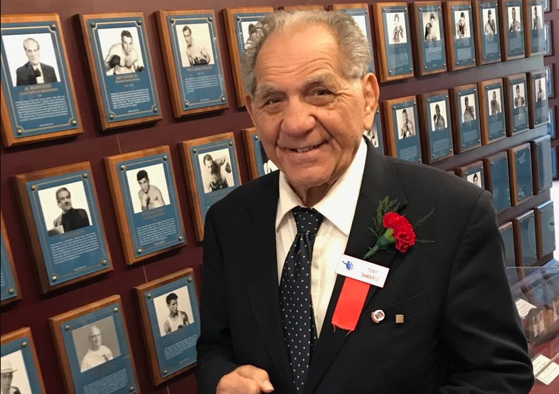 Former world welterweight champion Tony DeMarco. Photo courtesy of the International Boxing Hall of Fame