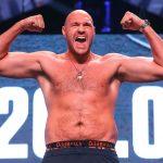 Tyson Fury flex 150x150 - Photos: Tyson Fury weighs 263, Tom Schwarz checks in at 245.5