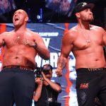 Tyson Fury vs Tom Schwarz pose2 150x150 - Photos: Tyson Fury weighs 263, Tom Schwarz checks in at 245.5
