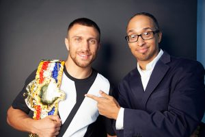 Vasiliy Lomachenko with Ring FOTY belt and Doug Fischer 300x200 - Dougie's Friday Mailbag (Ring City, the heavyweight division, and 'what-ifs?')