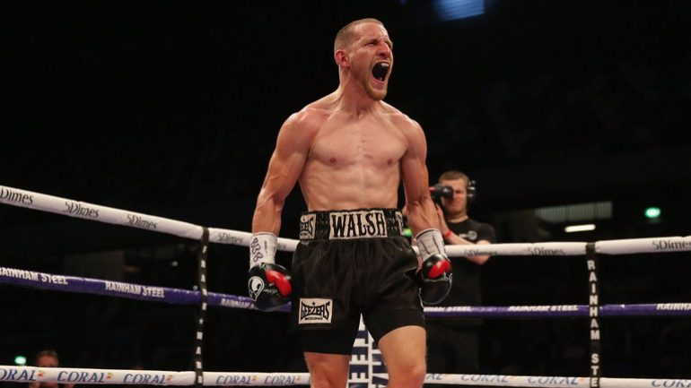 Ryan Walsh retains British featherweight title with points win over Lewis Paulin, Ohara Davies wins